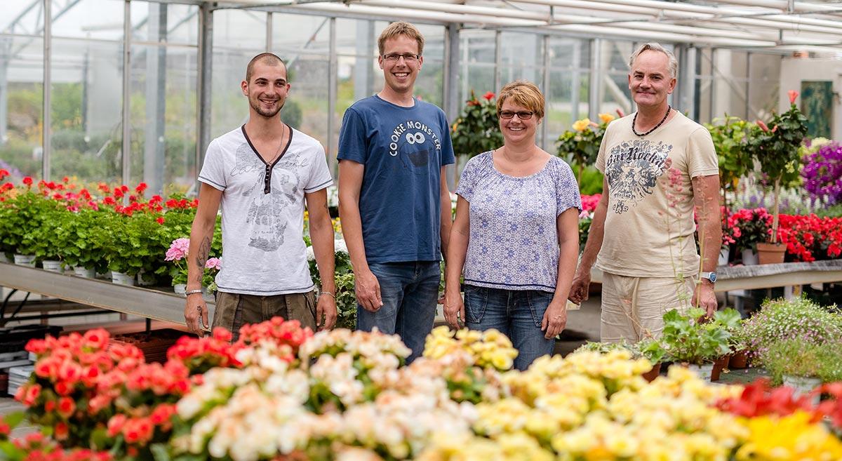 Team der Gärtnerei in Unteregg mit Jürgen und Melanie Specht